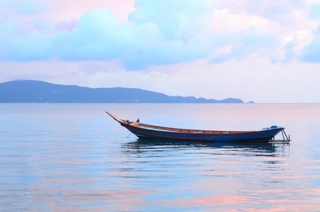 Sail Boat at sunrise beautiful color sky