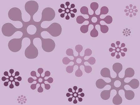 Indigo floral design
