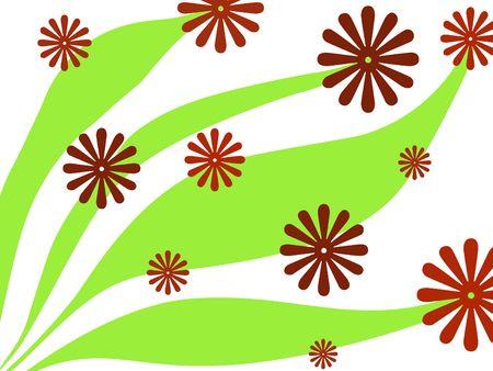 Red floral design