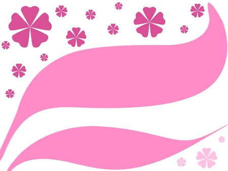 Pink floral curves Stock Photo