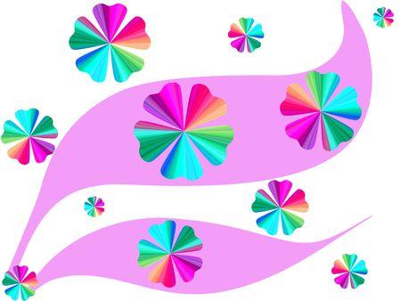 Gradient floral curves