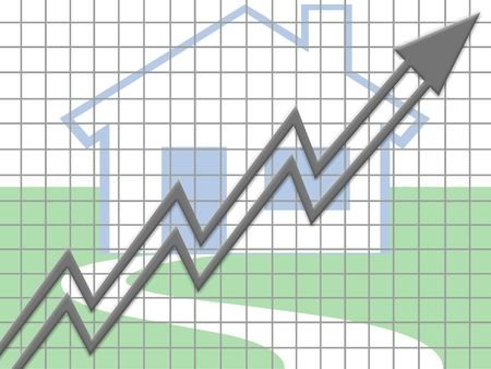 Real estate rise Stock Photo