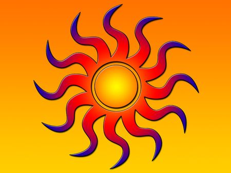 Shaded sun Stock Photo