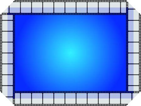Blue movie frame
