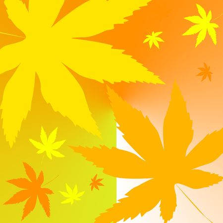 Fall colored leaves Stock Photo