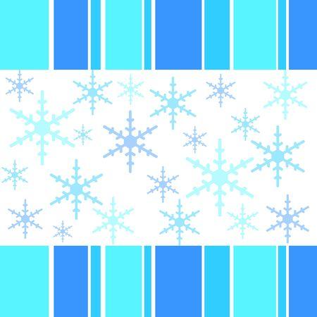 Snow flakes designs with stripy border Stock Photo