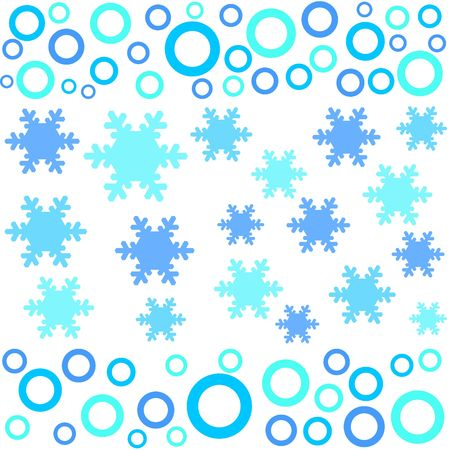 Circles and snow flakes designs Stock Photo