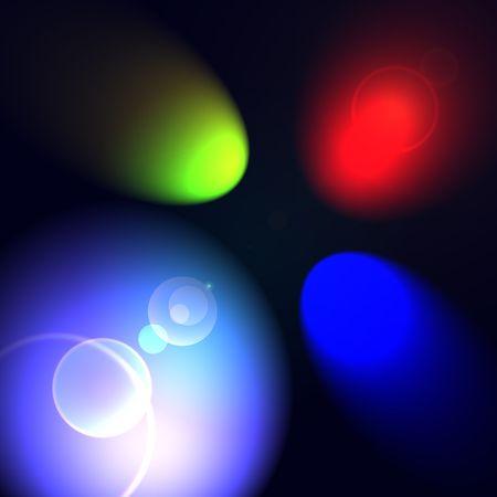 RGB spot lights photo