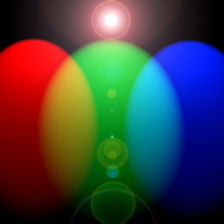 Vertical RGB lights