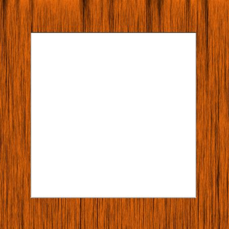Wooden frame with white space