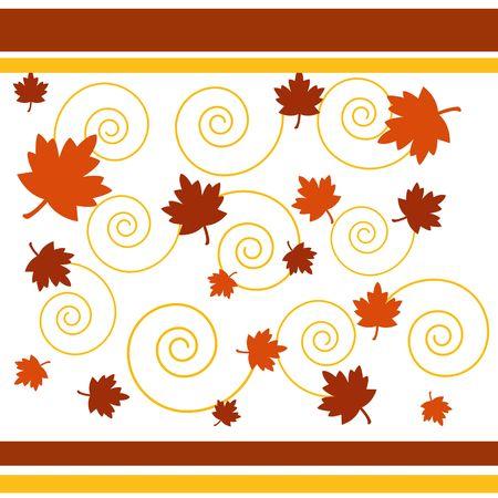 Spiral autumn Stock Photo