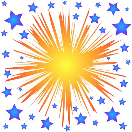 Colorful splash stars Stock Photo