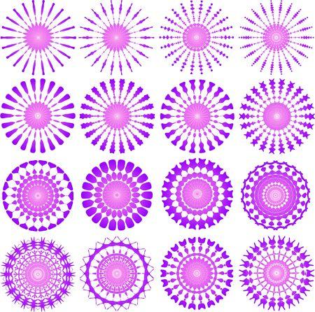 Pink circular designs Stock Photo