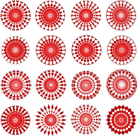 Red ornamental designs Stock Photo