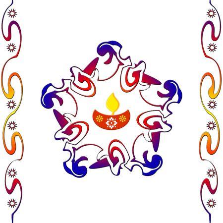 Indian rangoli design Stock Photo