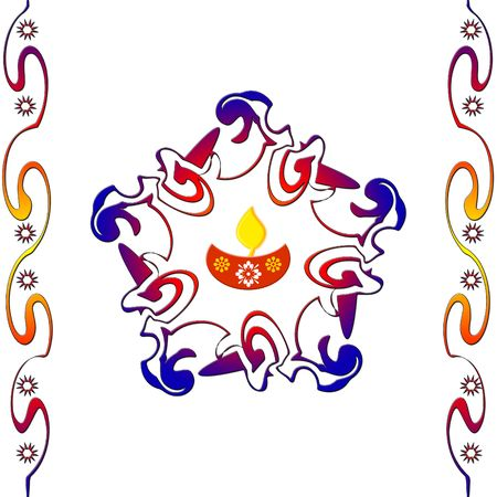 rangoli: Indian rangoli design Stock Photo
