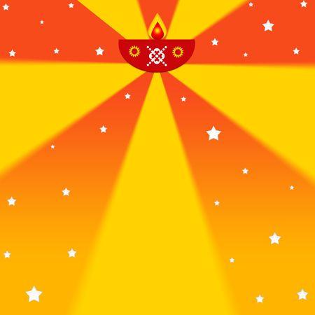 Indian diwali festival illustration