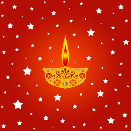 Indian diwali festival with lit lamp Stock Photo - 575182