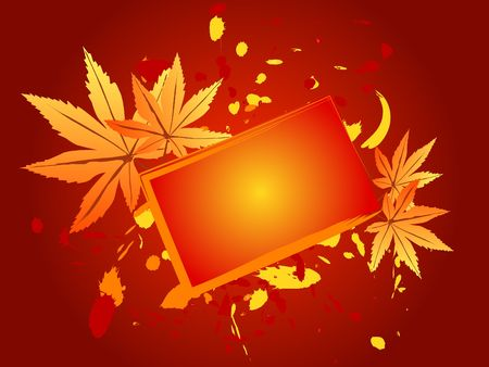 Autumn design with maple leaves
