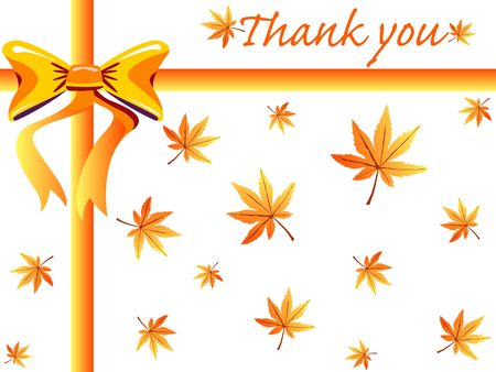 Autumn thank you card photo