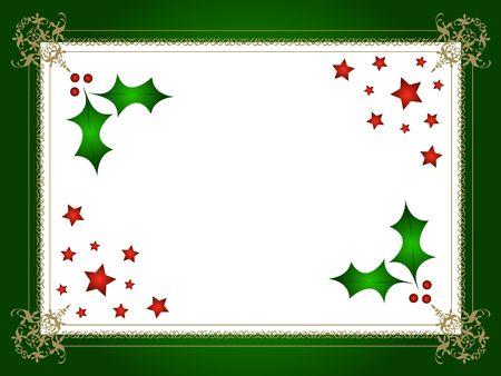 Decorativas de Navidad Holly marco  Foto de archivo - 617738