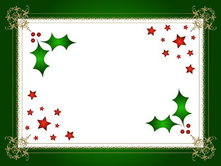 Decorative christmas holly frame