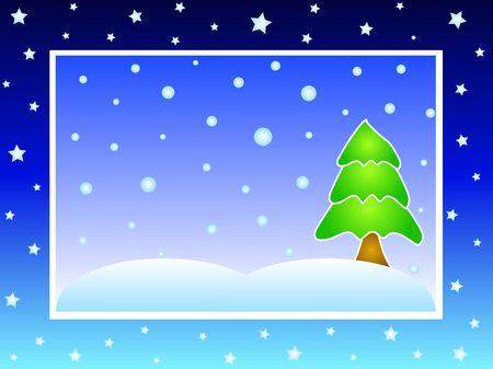Winter christmas tree Stock Photo - 626734