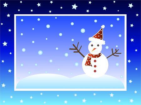 Christmas snow man photo