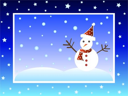 Christmas snow man