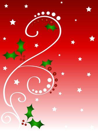 Christmas holly decorative frame Stock Photo
