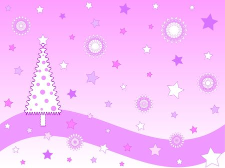 Pink funky christmas dtree design