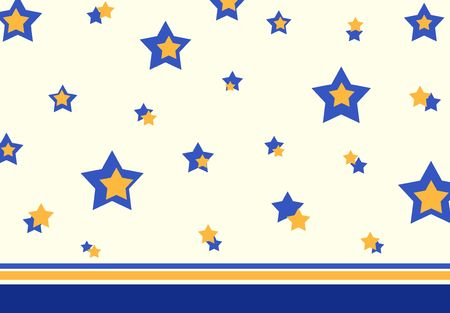 Retro stars in blue and yellow colors