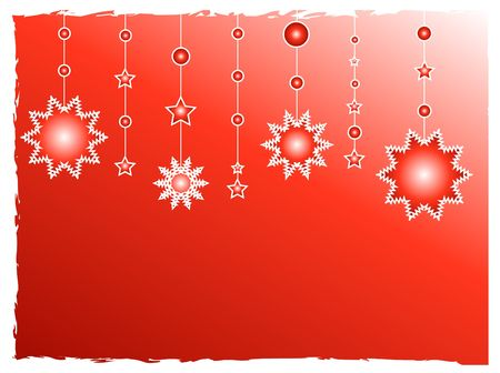 Red stars decorations Stock Photo