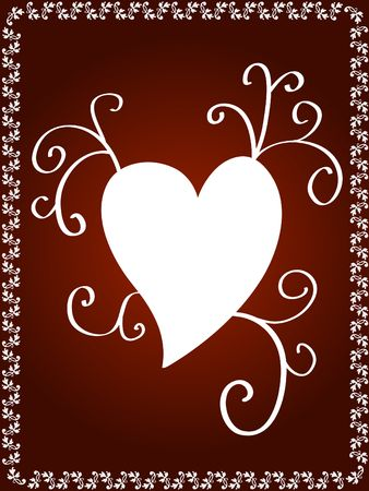 Artistic heart design Stock Photo