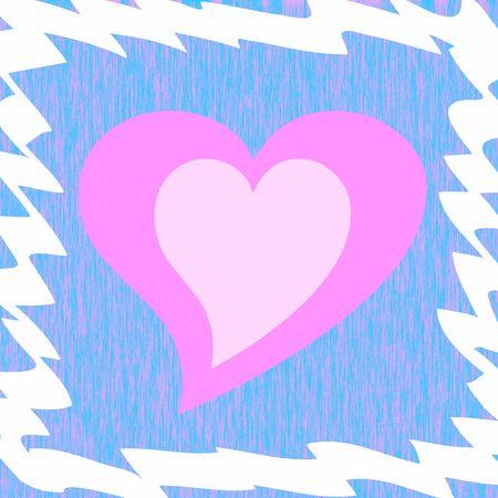 framed: Framed pink heart Stock Photo