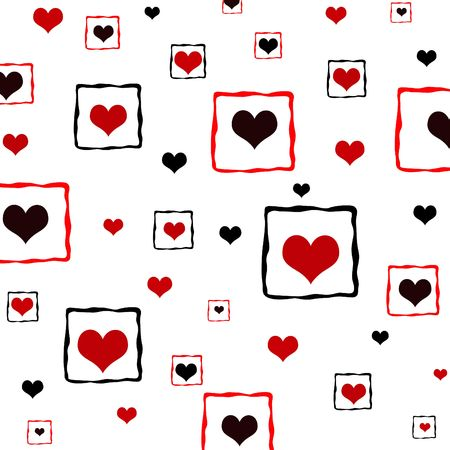 Framed hearts pattern Stock Photo