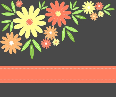 Flowers and leaves background Stock Photo