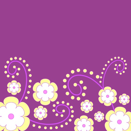 Flowers on purple
