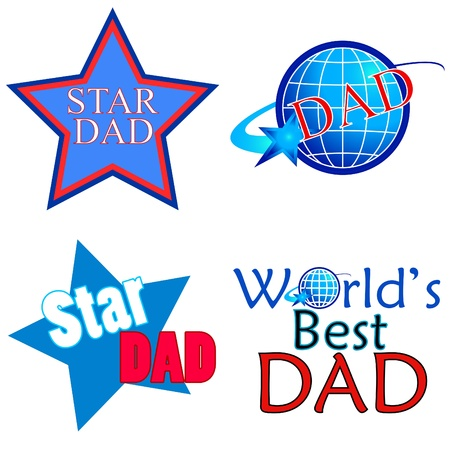 Star DAD designs on white  Stock Photo - 9892281