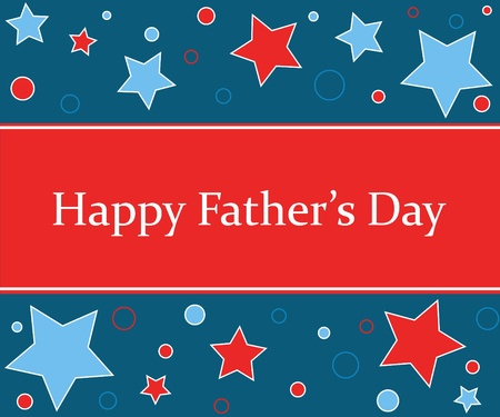 Happy Fathers Day stars design