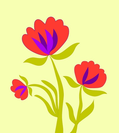 Orange flowers plant illustration