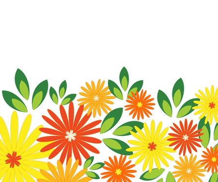 Summer flowers design Stock Photo