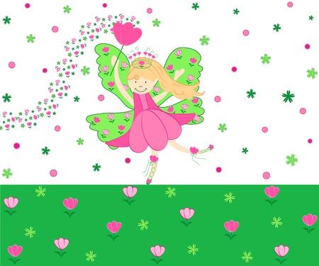 Pink tulip fairy