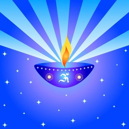 Indian festival Diwali lamp