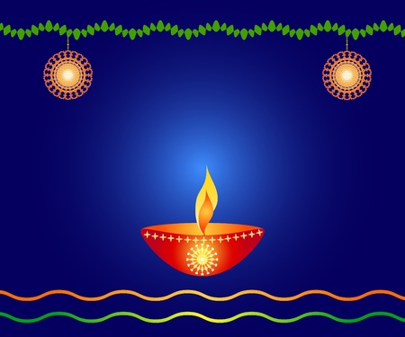 Indian festival Diwali lamp