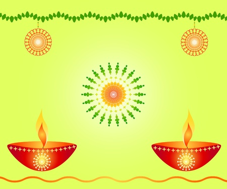 Indian festival Diwali lamps Stock Photo