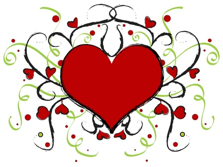 Red artistic heart Stock Photo