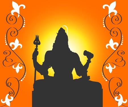Indian God Shiva Stock Photo