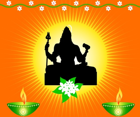 Indian God Shiva Stock Photo