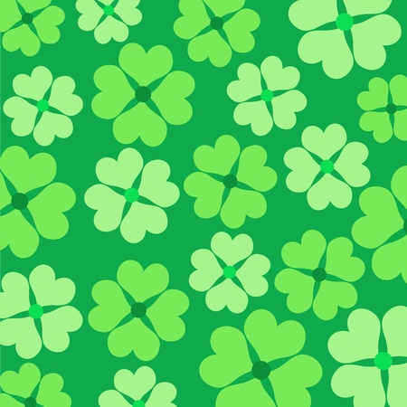 Green lucky clovers pattern